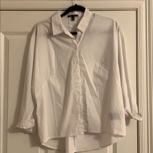 Tops - Oversized White Button up
